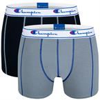 Champion Everyday Boxer 2-Pack Sort/Grå Large