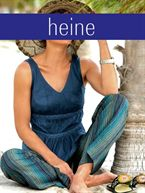 Heine Striped trousers with belt, blue
