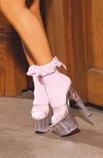 Elegant Moments Anklet With Ruffle & Satin Bow
