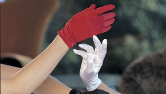 Shirley Stretch Satin Short Gloves