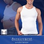 Shapewear Top Men White