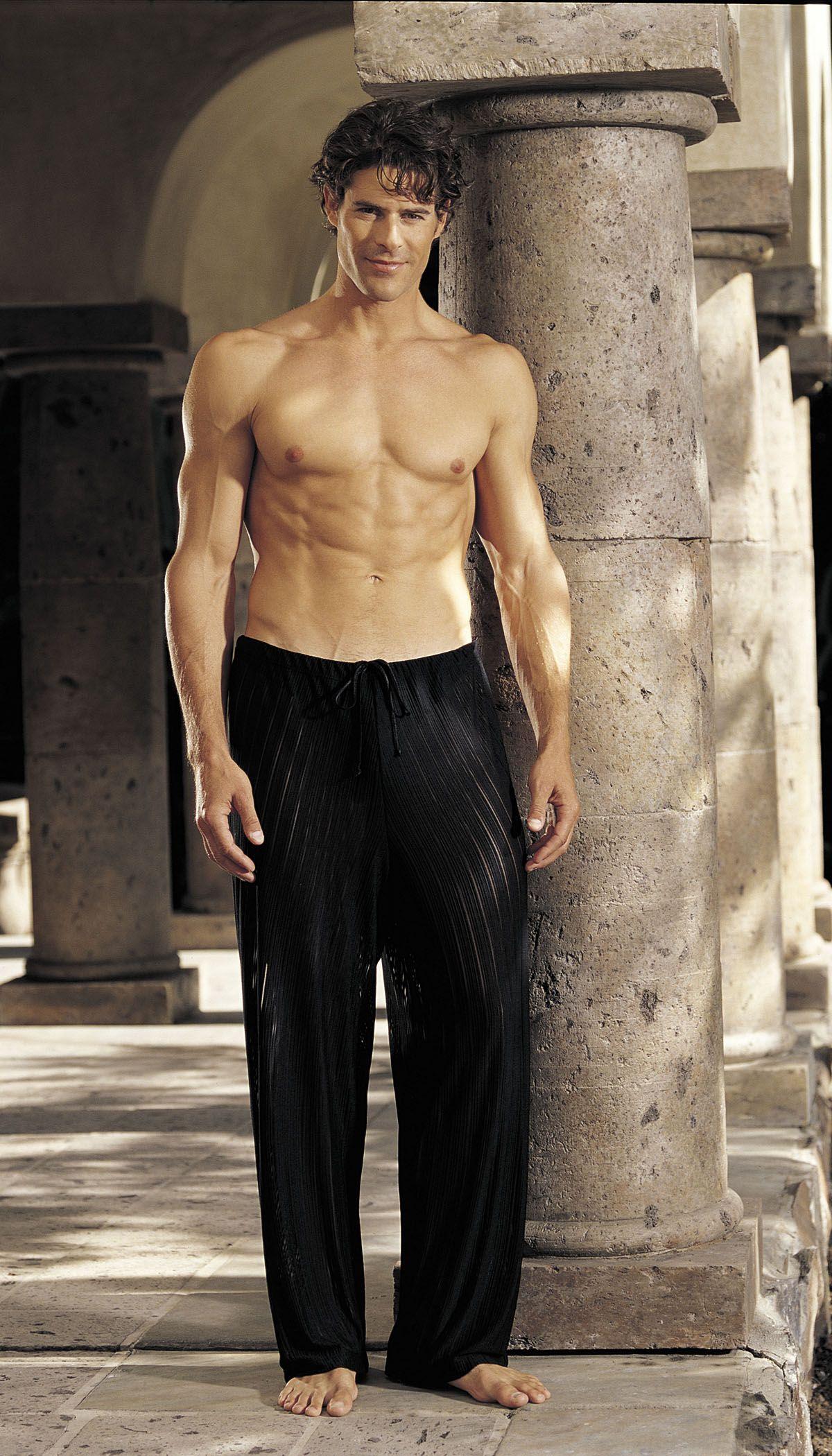 GyZ Stripe Spandex Pants Black XLarge