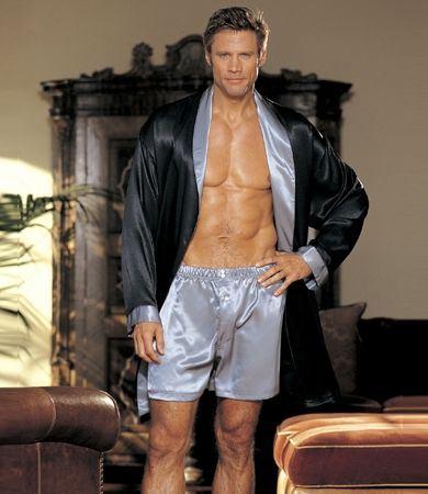GyZ Silk Boxer Shorts Silver XL