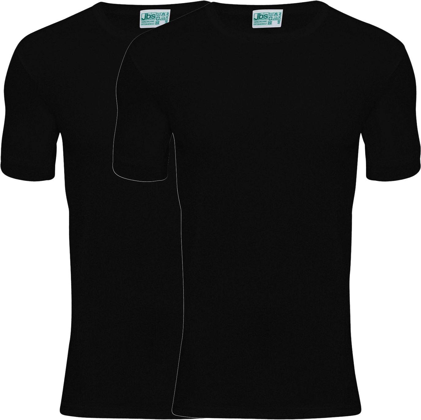 Billede af jbs Organic T-Shirt 380 02 09 2-Pack Sort S-3XL