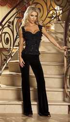 Shirley LINED STRETCH LACE BUSTIER Size_34