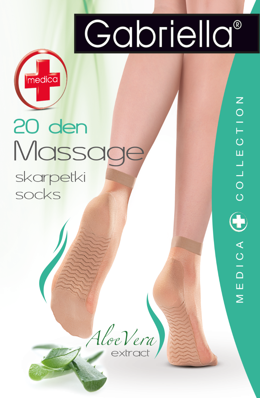 Gabriella Medica Massage Melisa Ankelstrømper Beige