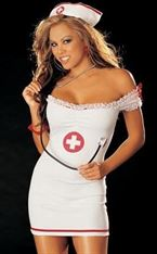 "Hot Lingerie 3 PC ""NURSE"" COSTUME SET One Size"