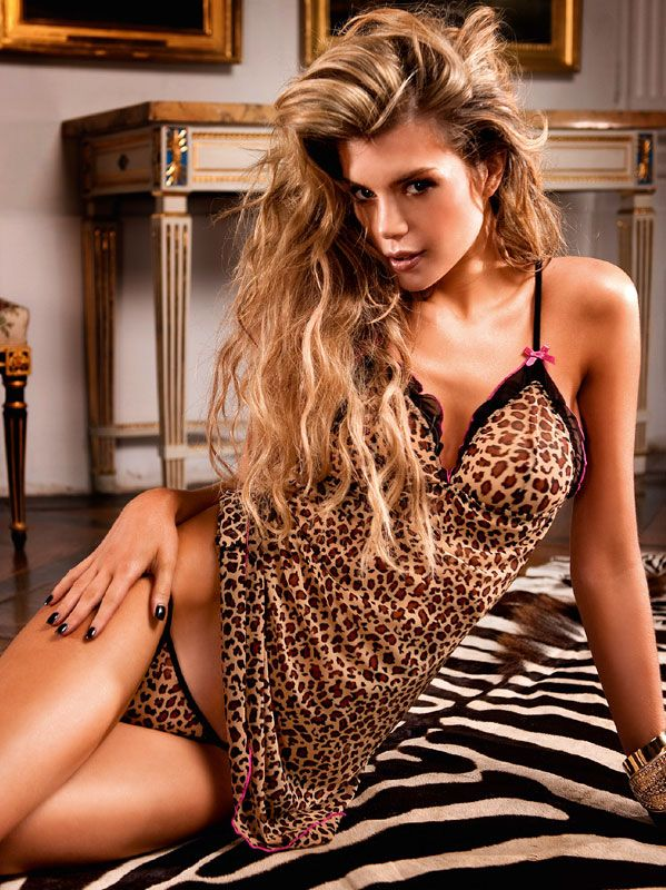 Baci Lingerie – Leopard camisole-sæt