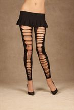 Elegant Moments Opaque leggings with rips