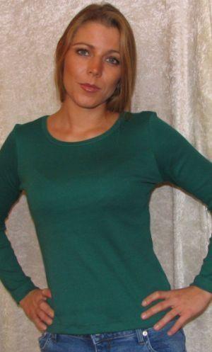 Bomulds Bluse Grøn