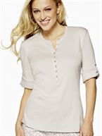 Triumph Lovely Morning Bluse Beige str. 40