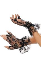Shirley Lace Short Gloves Hvid, Sort