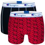 Champion Everyday Boxer 2-Pack Sort/Rød S-XXL