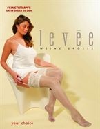 Levée 7013 Satin Sheer Selvsiddende Champagne Str. 44-60, Sort Str. 52-54
